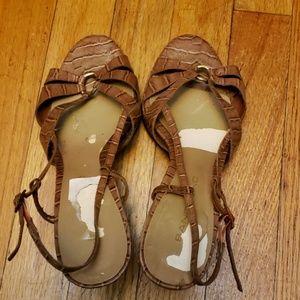 Bandolino Brown Strappy Hihg Heel Sandals SZ 8M